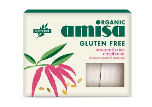 Amisa Amaranth-Rijst Crispbread Biologisch