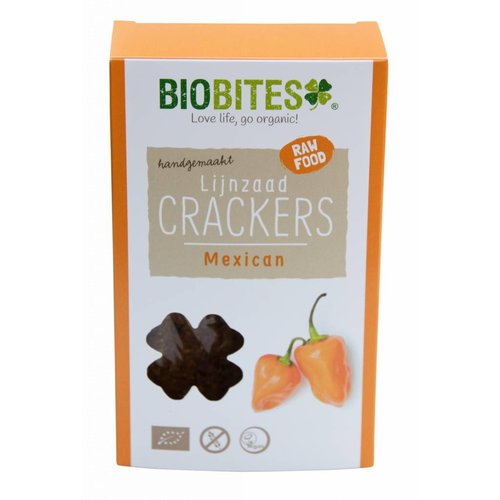 BioBites Lijnzaadcrackers Mexican Biologisch