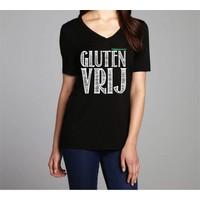 Coeliakiemaand Dames T-shirt zwart, maat XL