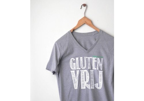 Coeliakiemaand Coeliakiemaand Heren T-shirt grijs, maat S