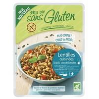 Groene Linzen en Rijst maaltijd Biologisch