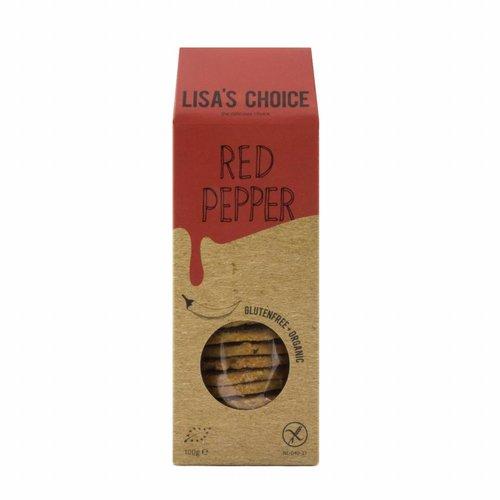 Lisa's Choice Red Pepper Cookies Biologisch (THT 5-2018)