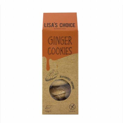 Lisa's Choice Ginger Cookies Biologisch  (THT 5-2018)