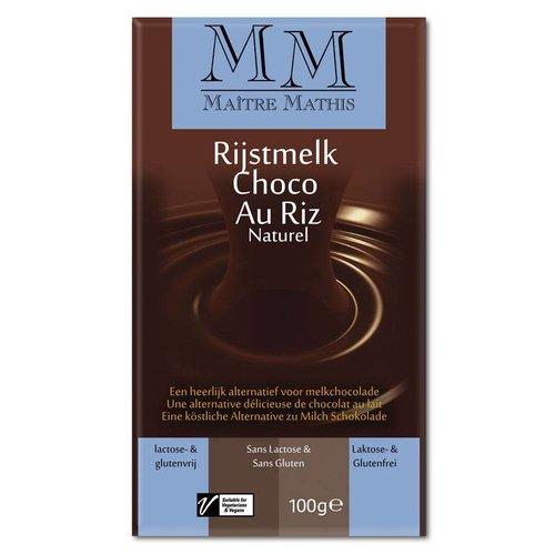 Maître Mathis Rijstmelk Choco Tablet Naturel (THT 03-09-2018)