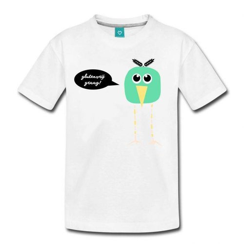 Coeliakiemaand Coeliakiemaand Kinder T-shirt wit, maat 122/128