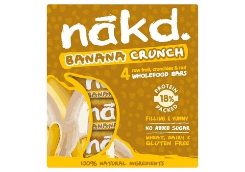 Nakd Banana Crunch Bars 4-Pack