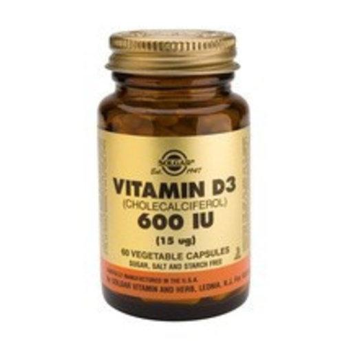Solgar Vitamin D-3 15 µg/600 IU (60 capsules)