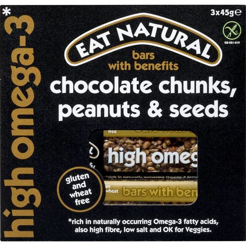 Eat Natural Chocolate Chunks, Peanuts & Seeds Bar