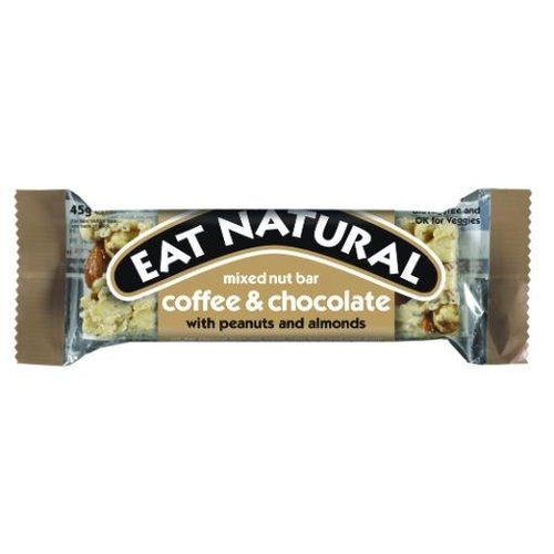 Eat Natural Mixed Nut Bar Coffee and Chocolate with Peanuts and Almonds