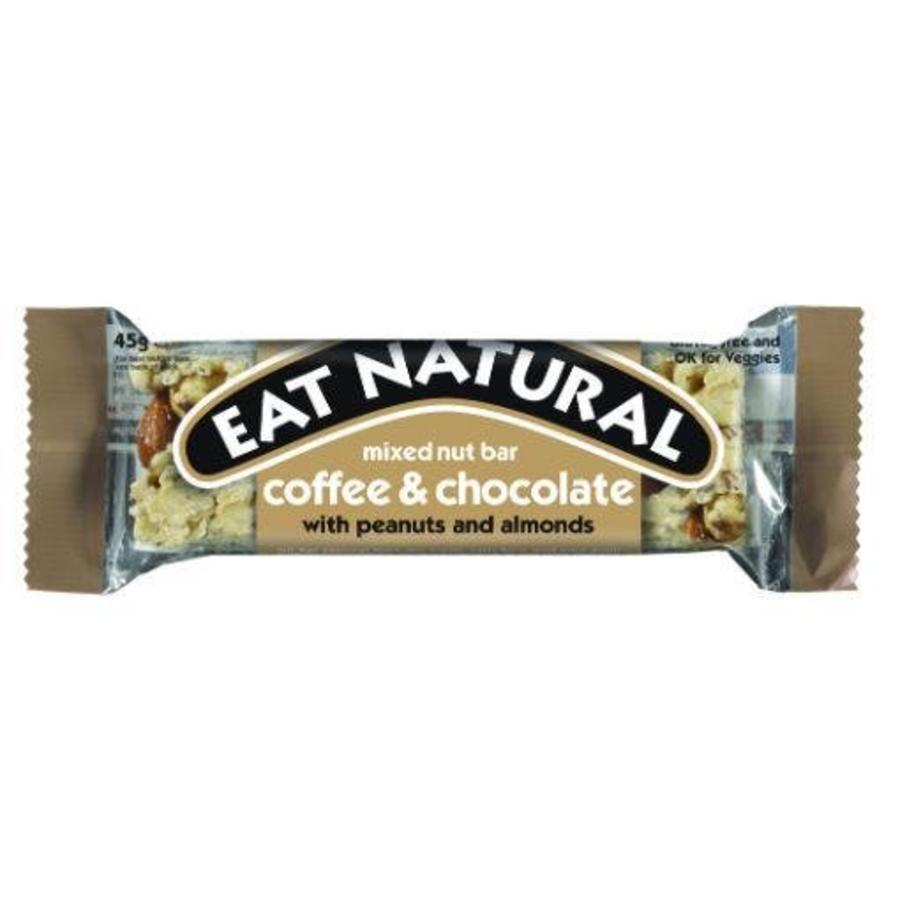 Mixed Nut Bar Coffee and Chocolate with Peanuts and Almonds