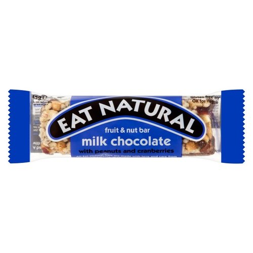 Eat Natural Fruit en Noot Reep Melk Chocolade (THT 12-2018)