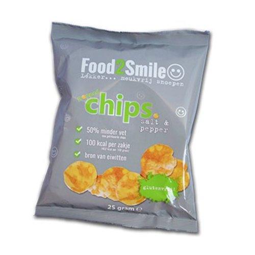 Food2Smile Popped Chips Salt & Pepper