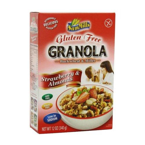 Sam Mills Granola Strawberry & Almonds