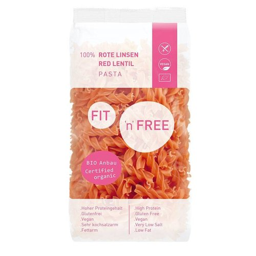 Fit 'n Free Rode Linzen Pasta Biologisch
