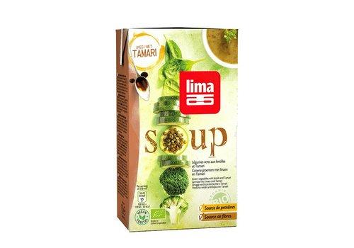 Lima Groene Groentensoep met Linzen en Tamari Biologisch