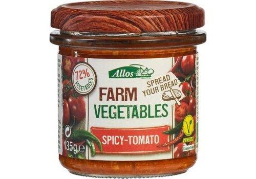 Allos Groentespread Spicy Tomaat Biologisch