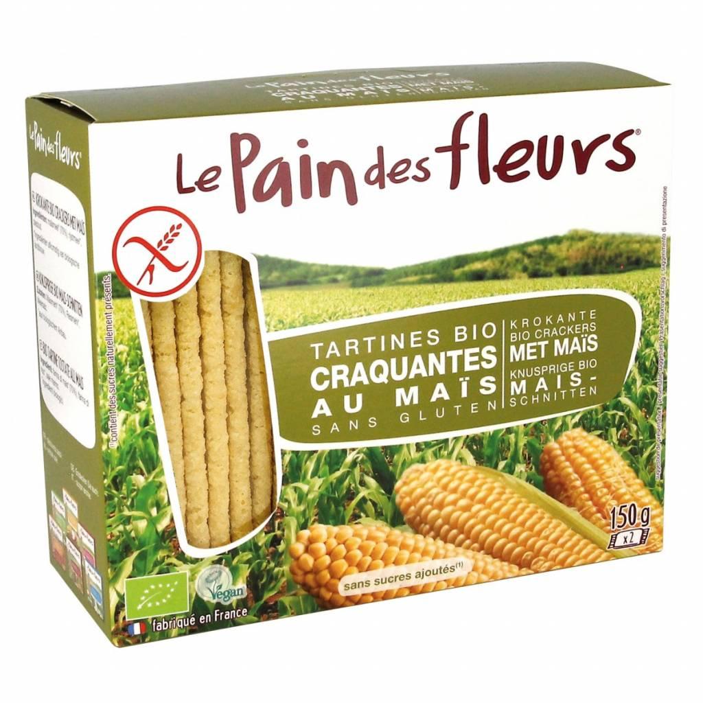 Le Pain Des Fleurs Glutenvrije Mais Crackers Biologisch 150g