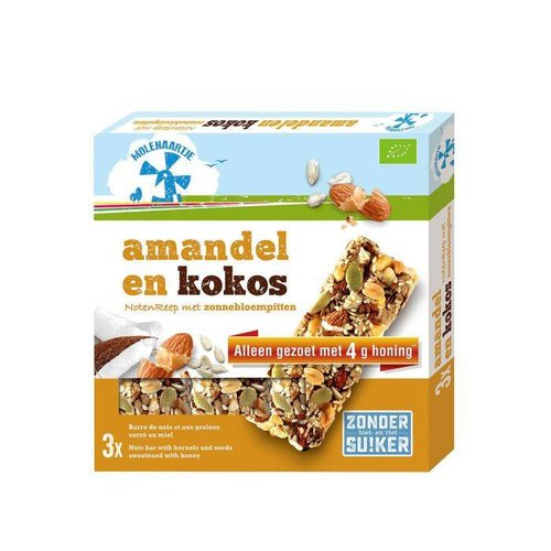 Molenaartje Notenreep Amandel en Kokos Biologisch