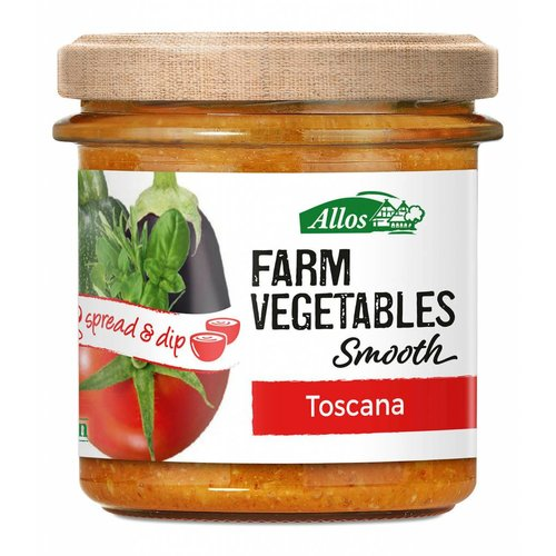 Allos Farm Vegetables Smooth Toskana Spread Biologisch