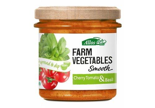 Allos Farm Vegetables Smooth Cherry Tomaat en Basilicum Spread Biologisch