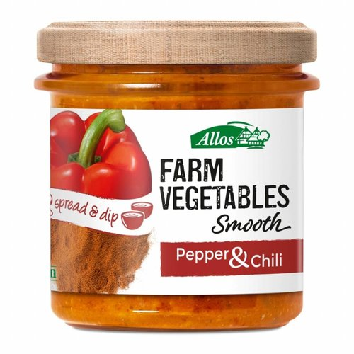 Allos Farm Vegetables Smooth Paprika en Chili Spread Biologisch