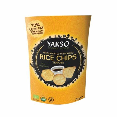 Yakso Rice Chips Teriyaki Biologisch
