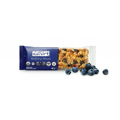 Taste of Nature Blueberry Organic Fruit & Nut Bar Biologisch