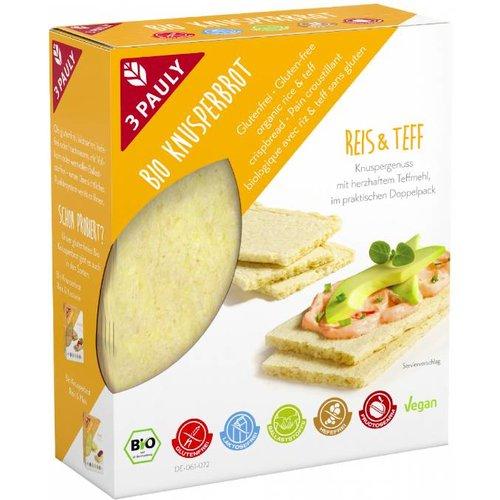 3Pauly Rijst en Teff Crackers Biologisch