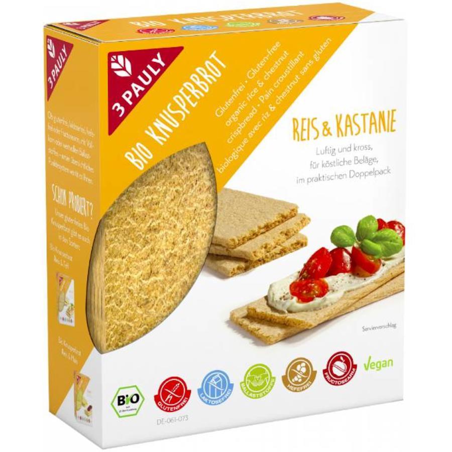 Rijst en Kastanje Crackers Biologisch