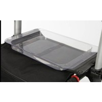 Serving tray to use on top of a rollator