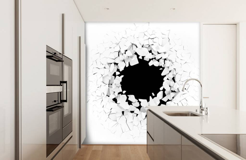 3D zwart gat