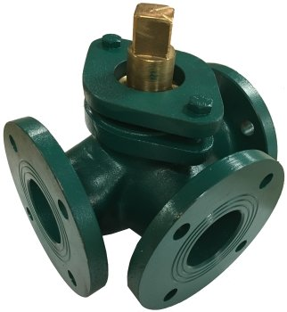 Bronze plug valve, three ways
