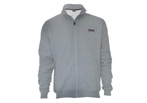 Donnay Sweater met hele rits - Licht grijs gemêleerd