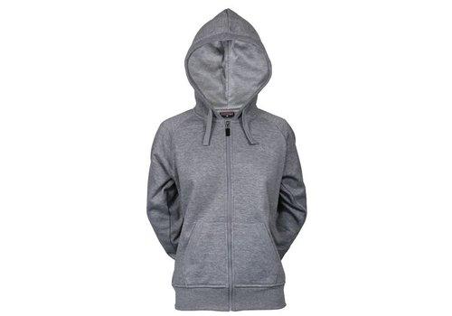 Sweater met hele rits en capuchon Lds - Midden grijs gemêleerd