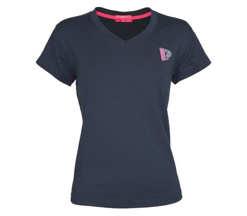 Donnay V-Neck T-Shirt Lds - Navy