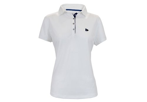 Donnay Sport polo (cool dry) - Wit/korenblauw