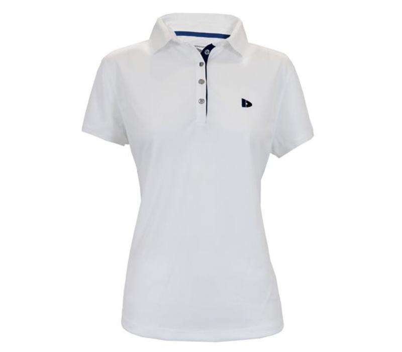 Donnay Sport polo (cool dry) - Dames - Wit/korenblauw