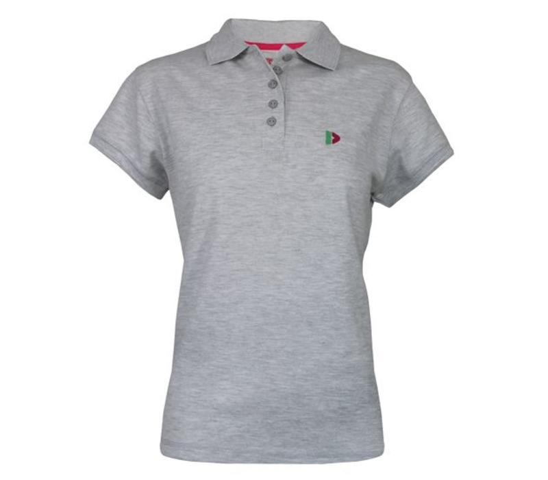 Donnay Polo shirt Dames - Licht grijs gemêleerd