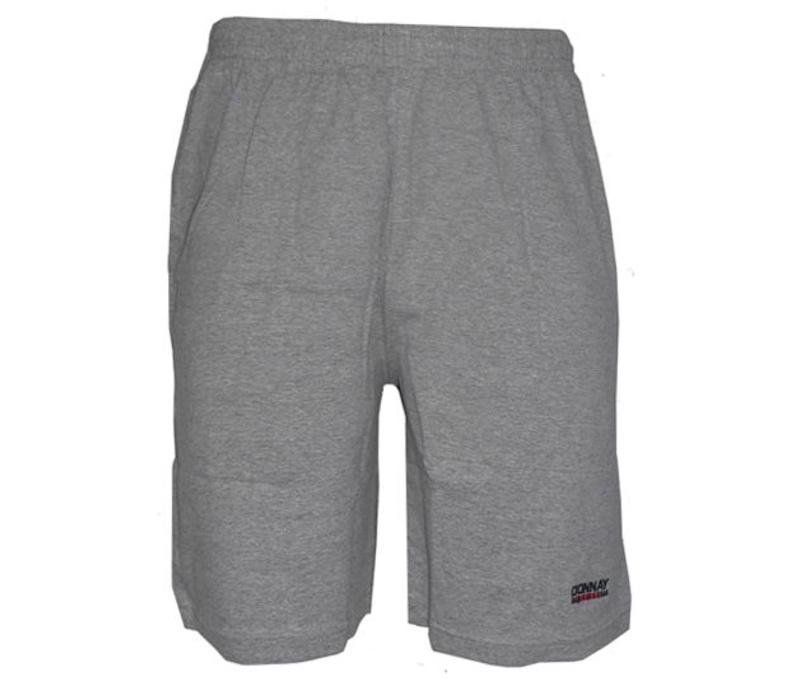Donnay Korte joggingbroek - Midden grijs gemêleerd