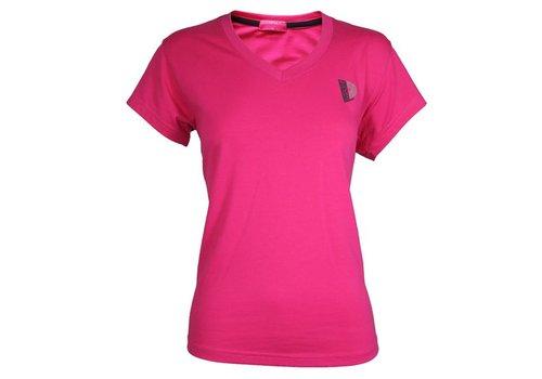 Donnay V-Neck T-Shirt Lds - Donker roze