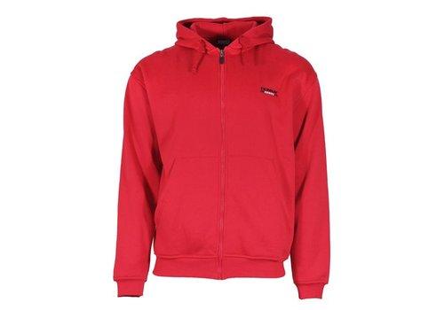 Donnay Sweater met hele rits en capuchon - Hard rood