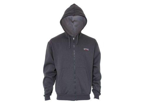 Donnay Sweater met hele rits en capuchon - Donker grijs