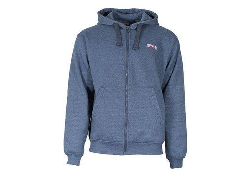 Donnay Sweater met hele rits en capuchon -donker blauw gemêleerd