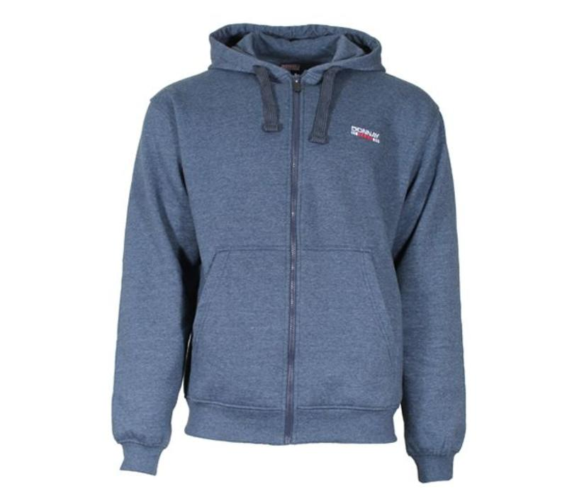 Super Donnay Sweater met hele rits en capuchon -Donker blauw gemêleerd  &SJ88