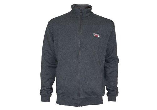 Donnay Sweater met hele rits - Donker grijs gemêleerd