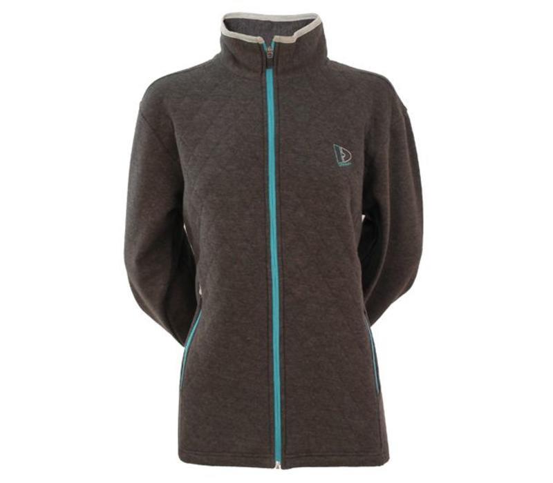 Donnay Sweater met hele rits Lds - Donker grijs gemêleerd