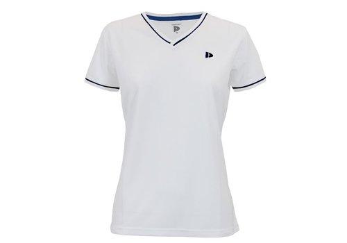 Donnay Donnay V- Neck sportshirt (cool dry) - Dames - Wit/Korenblauw