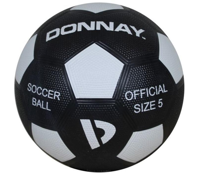 Donnay Straat voetbal No.5 - Zwart/wit