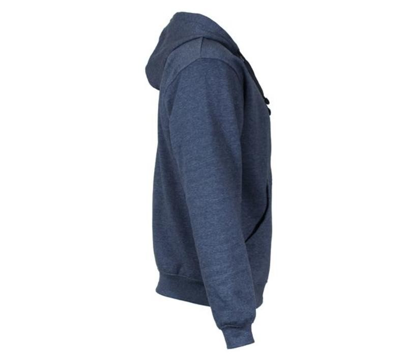 Donnay Sweater met hele rits en capuchon - Donker blauw gemêleerd