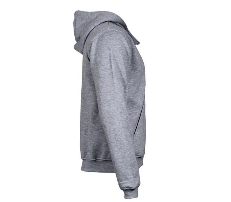 Donnay Sweater met hele rits en capuchon - Licht grijs gemêleerd